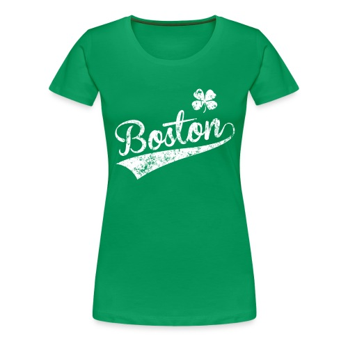 Women's Boston Shamrock - Green - Women's Premium T-Shirt