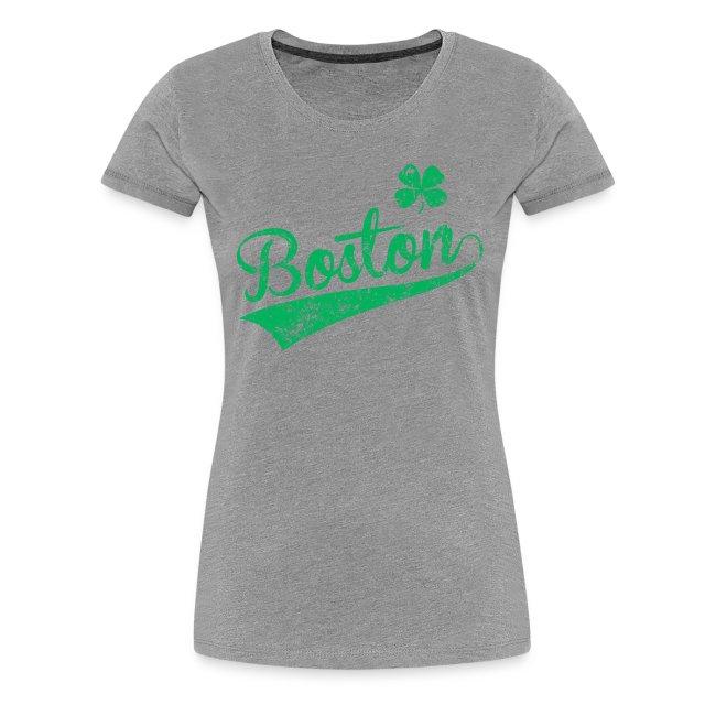 Women's Boston Heart Shamrock - Heather