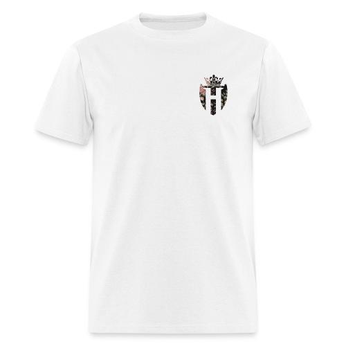 Horizon White w/ Black Shield (Gildan Style) - Men's T-Shirt