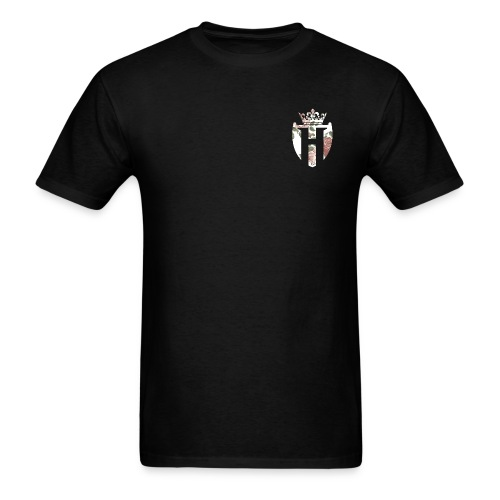 Horizon Black w/ White Shield (Gildan Style) - Men's T-Shirt