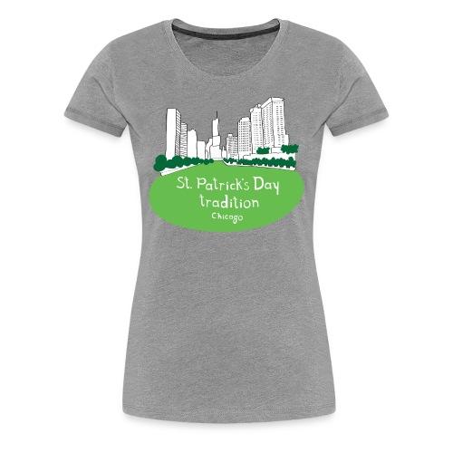 Women's Chicago Tradition - Heather - Women's Premium T-Shirt