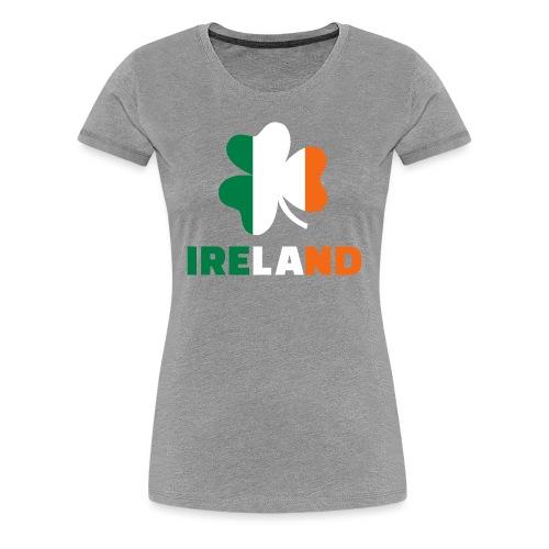 Women's Ireland 3 Color - Heather - Women's Premium T-Shirt