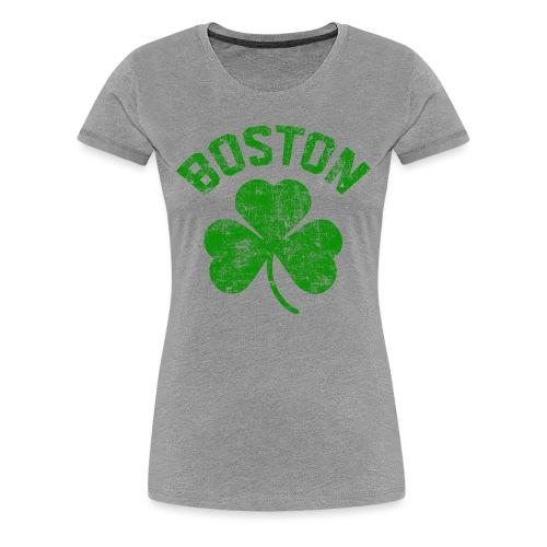 Women's Boston Shamrock - Heather - Women's Premium T-Shirt