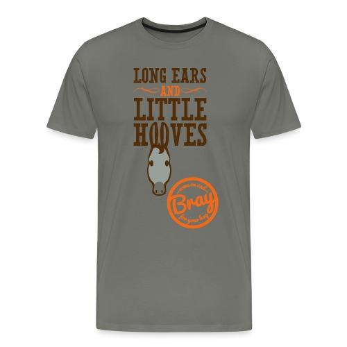 Men's White Donkey T - Men's Premium T-Shirt