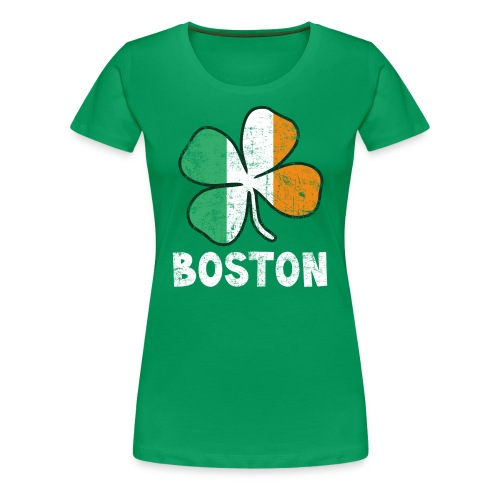 Women's Boston 3 Color - Green - Women's Premium T-Shirt