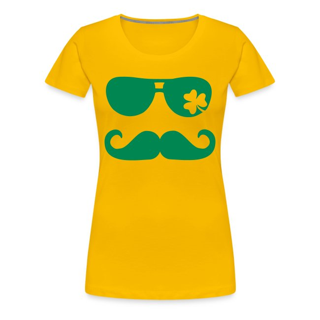 Women's Glasses & Mustache St. Pat's - Heather