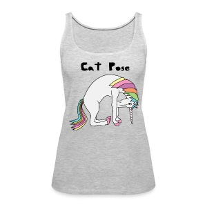 Yoga Unicorn Cat Pose Tanks - Women's Premium Tank Top