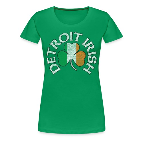 Women's Detroit Irish Tri Color - Green - Women's Premium T-Shirt