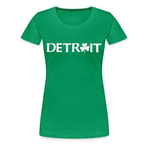 Women's Detroit Irish O - Heather - Women's Premium T-Shirt