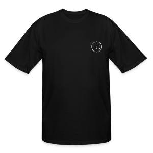 TBC Circle on Black - Men's Tall T-Shirt