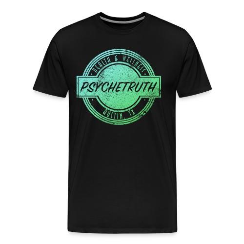 Blue/Green Psychetruth Logo Men's Shirt - Men's Premium T-Shirt