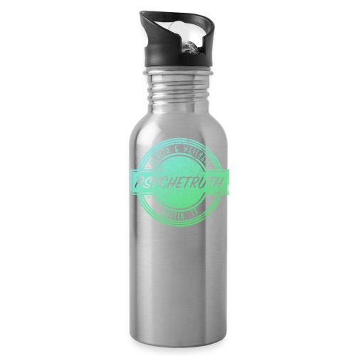 Blue/Green Psychetruth Logo Water Bottle - Water Bottle