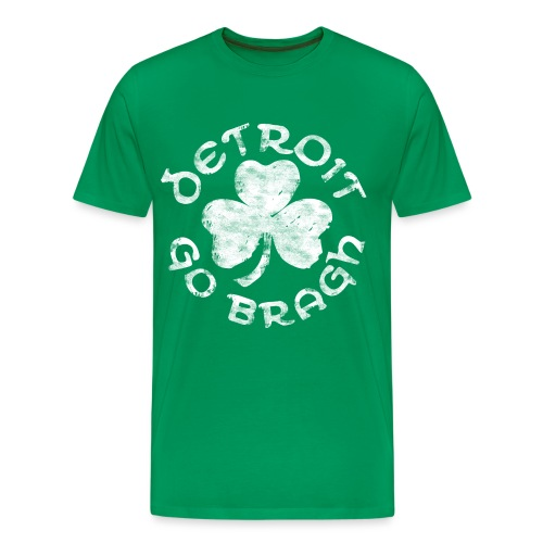 Men's Detroit Go Bragh - Green - Men's Premium T-Shirt