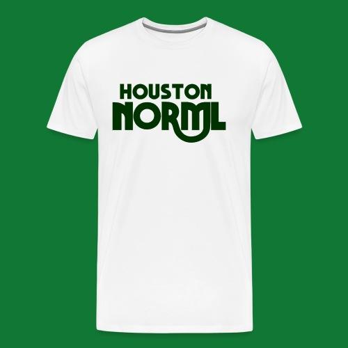 Men's Cotton Tee Houston NORML Swoop Dark Green Logo - Men's Premium T-Shirt