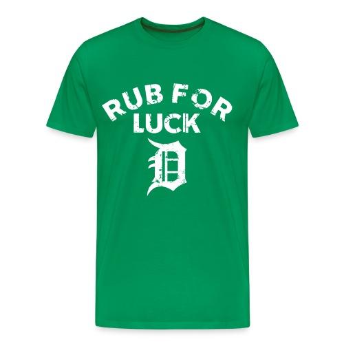 Men's Detroit Rub T - Green - Men's Premium T-Shirt