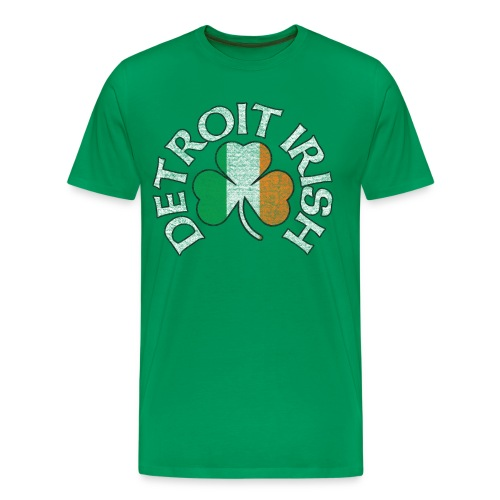 Men's Detroit Irish Tri Color - Green - Men's Premium T-Shirt