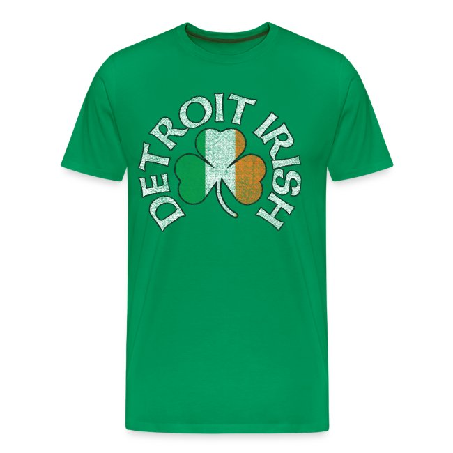 Men S Detroit Irish Tri Color Green