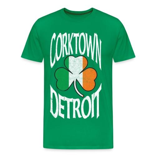Men's Detroit Corktown - Green - Men's Premium T-Shirt