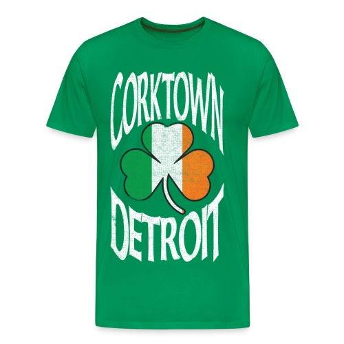 Men's Detroit Corktown - Green - Men's Premium T-Shirt