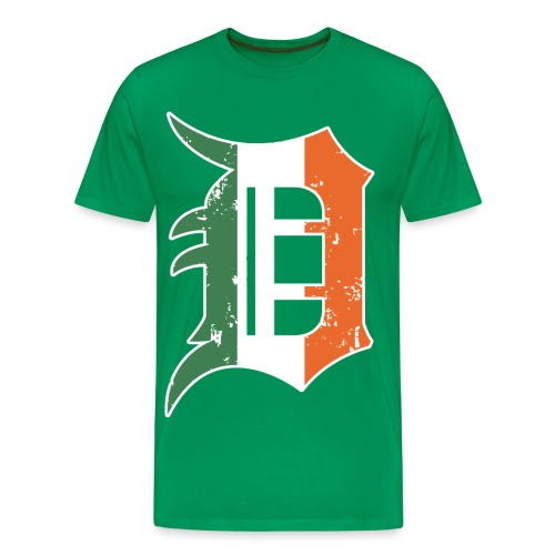 Men's Detroit Old English D- Green - Men's Premium T-Shirt