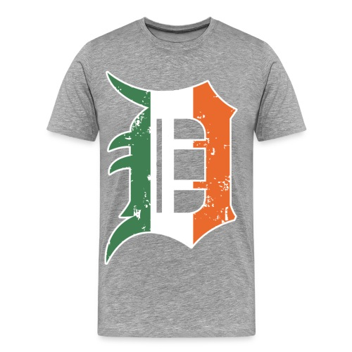 Men's Detroit Old English D- Heather - Men's Premium T-Shirt