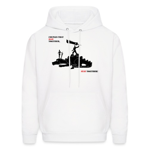 Couples that Slay Together Hoodie mens wht - Men's Hoodie