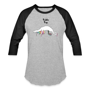 Yoga Unicorn Table Top Pose T-Shirts - Baseball T-Shirt
