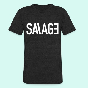 UNI-SEX SAVAGE - Unisex Tri-Blend T-Shirt by American Apparel