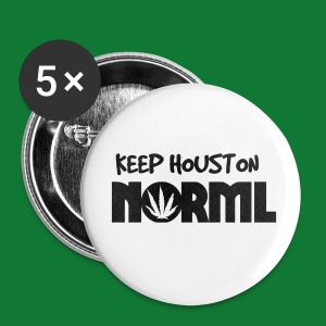 Black Keep Houston NORML Button's - Large Buttons