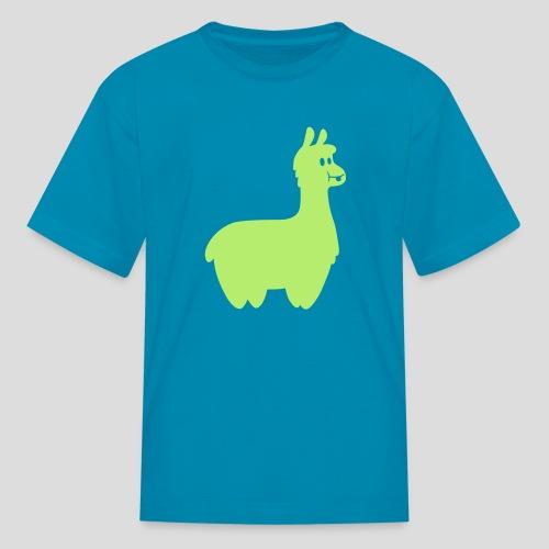 Alpaca T-Shirt (Green) - Kids' T-Shirt