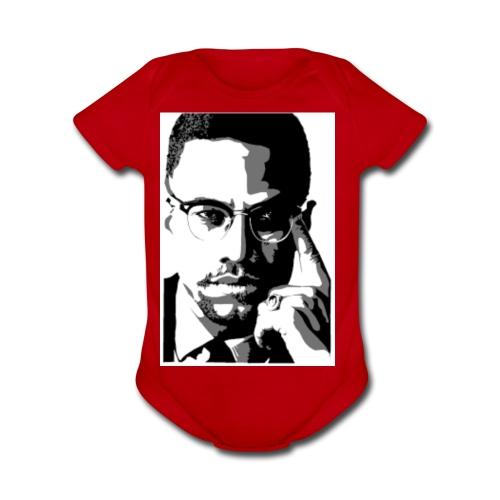 Malcolm X  - Organic Short Sleeve Baby Bodysuit