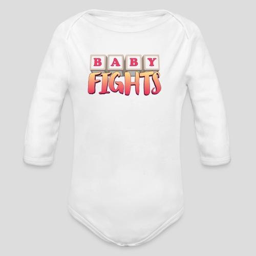 Baby Fights! Long Sleeve Onesie - Organic Long Sleeve Baby Bodysuit