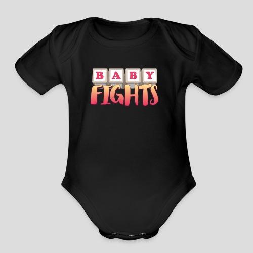 Baby Fights! Short Sleeve   - Organic Short Sleeve Baby Bodysuit