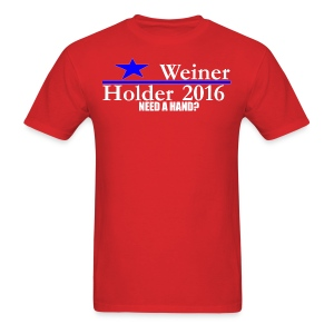 Weiner/Holder 2016 in Red - Men's T-Shirt