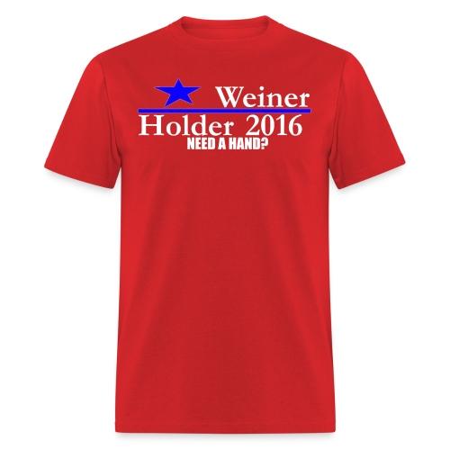 Weiner/Holder 2016 in Red - Men's T-Shirt