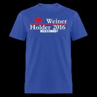 T-Shirts ~ Men's T-Shirt ~ Weiner/Holder 2016 in Blue