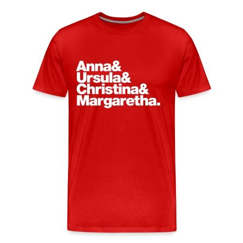4 Anabaptist Women Martyrs - Men's Premium T-Shirt