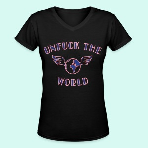 UNFUCK - Women's V-Neck T-Shirt