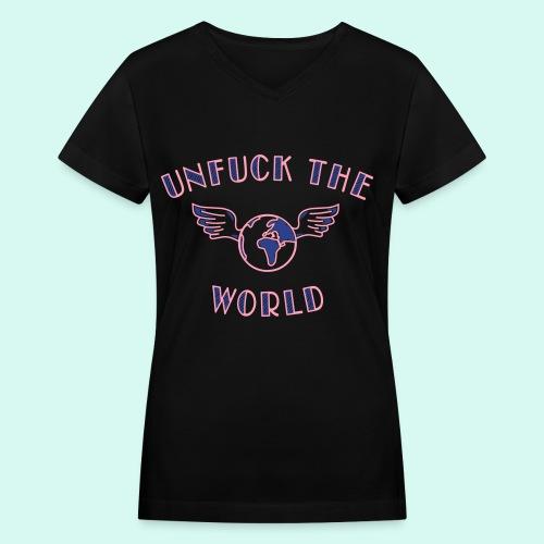 UNFUCK - Women's V-Neck T-Shirt
