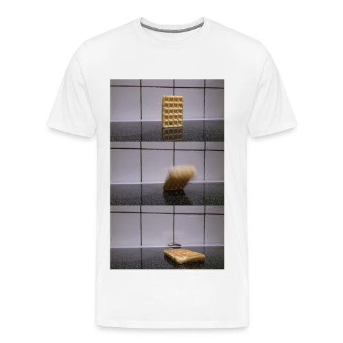 Waffle falling over - Men's Premium T-Shirt (Other colors available) - Men's Premium T-Shirt