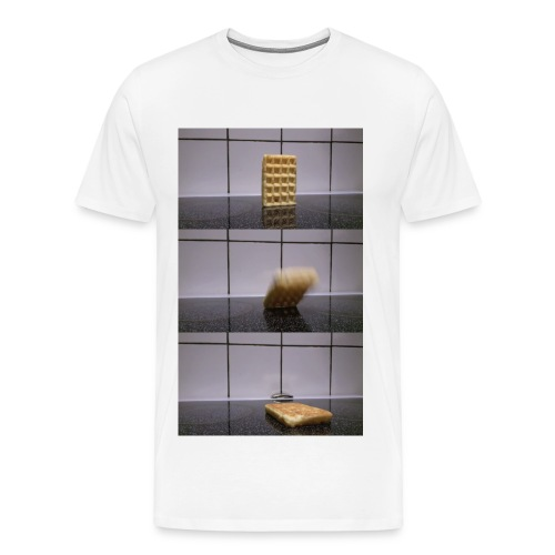 Waffle falling over - Men's Premium T-Shirt (Other colors available) - Men's Premium T-Shirt