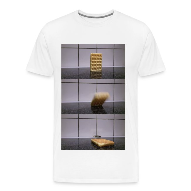 Waffle falling over - Men's Premium T-Shirt (Other colors available)