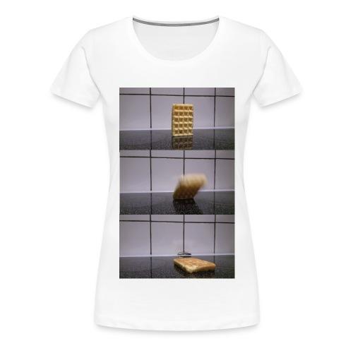 Waffle falling over - Women's Premium T-Shirt (Other colors available) - Women's Premium T-Shirt