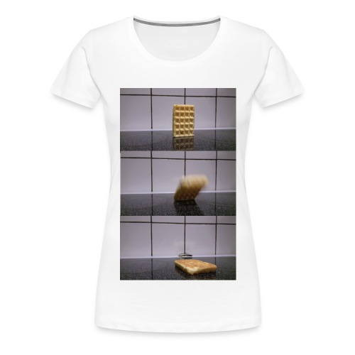 Waffle falling over - Women's Premium T-Shirt (Other colors available) - Women's Premium T-Shirt