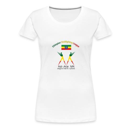 Ethiopian Stickfighting League Women's Logo Shirt - Women's Premium T-Shirt