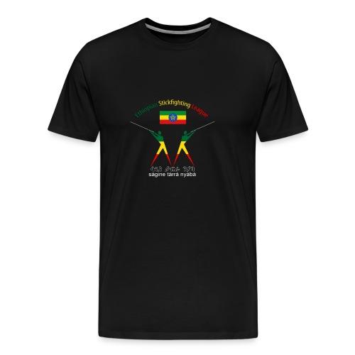 Ethiopian Stickfighting League Logo Tee - Men's Premium T-Shirt