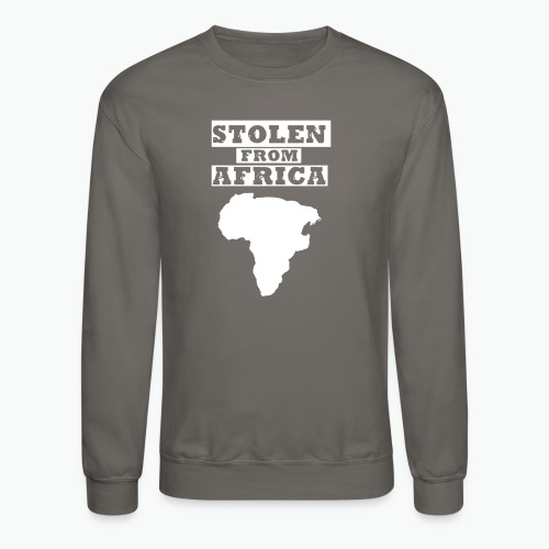 Stolen From Africa Men's Crewneck Sweatshirt (White Logo)  - Crewneck Sweatshirt