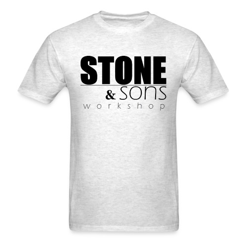 Stone & Sons Men's T-shirt (black logo) - Men's T-Shirt