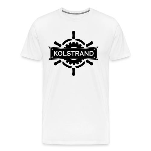 Kolstrand Logo T-Shirt - White - Men's Premium T-Shirt