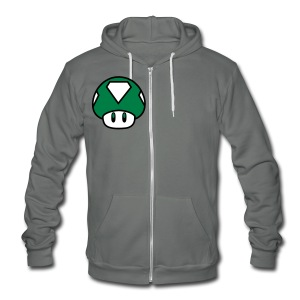 SHROOM - Unisex Fleece Zip Hoodie by American Apparel